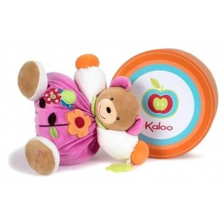 Kaloo Urso Flor c/ Anel de Dentição Colors