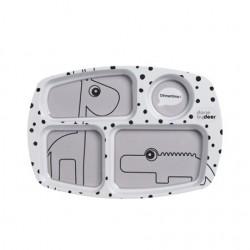 Prato com Compartimentos Happy Dots