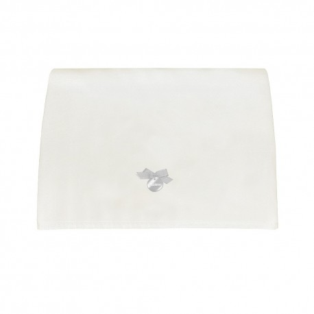Muda Fraldas Pol Branco c/ Laço Azul