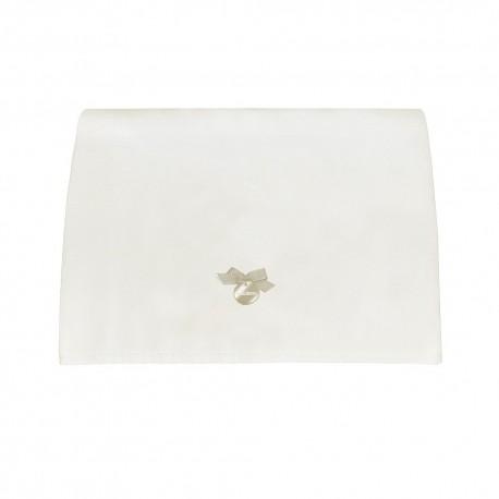 Muda Fraldas Pol Branco c/ Laço Rosa