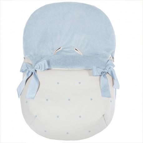 Forra p/ Babycoque Coton Azul