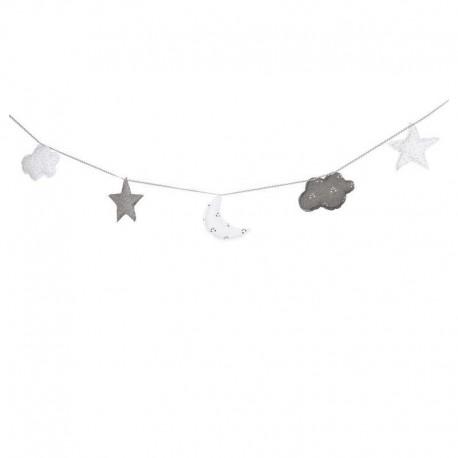 Grinalda Decorativa Little Star Azul