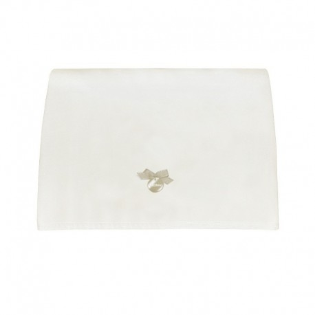 Muda Fraldas Pol Branco c/ Laço