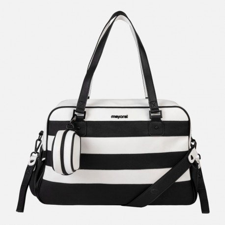 Saco de Maternidade c/ Porta Chupetas Black an White