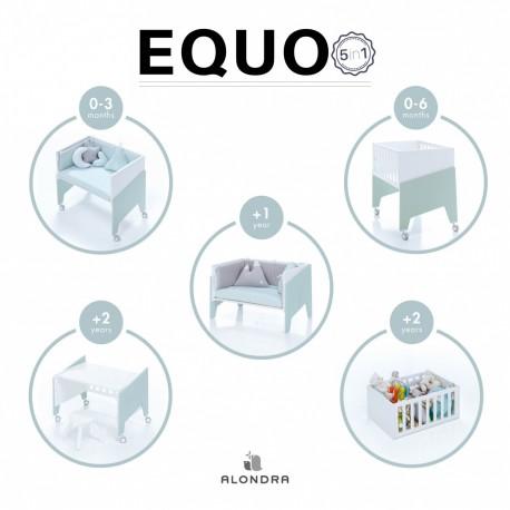 Alondra Equo 5 em 1 + Colchão + Têxteis