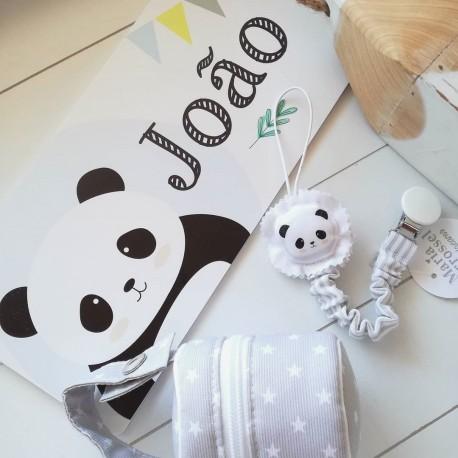 Placa com Nome Tema Panda