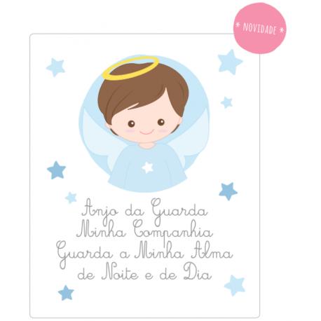 Placa com Oração Anjo da Guarda