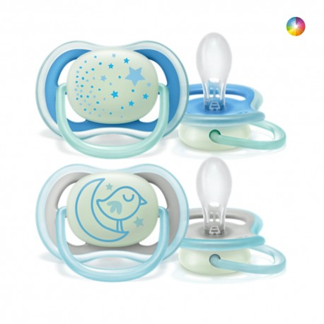 Philips Avent Chupetas Ortodônticas Night Time 6-18m