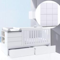 Convertível Neo Modular + Armário 6 módulos + 3 Têxteis