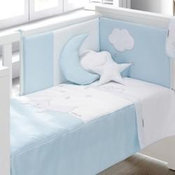 Colcha + Protetor Dream Azul