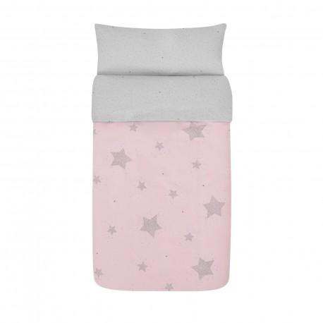 Capa de Edredão Estrelas Rosa