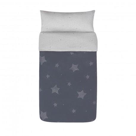 Capa de Edredão Estrelas Azul