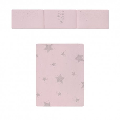 Colcha + Protetor Estrelas Rosa