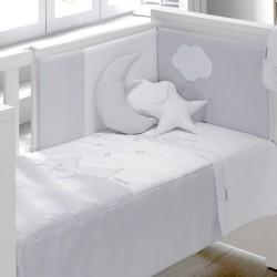 Colcha + Protetor Dream Cinza