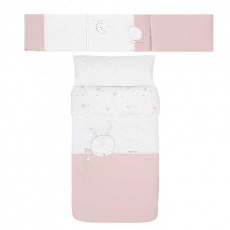 Capa de Edredão + Protetor Sleepy Rosa