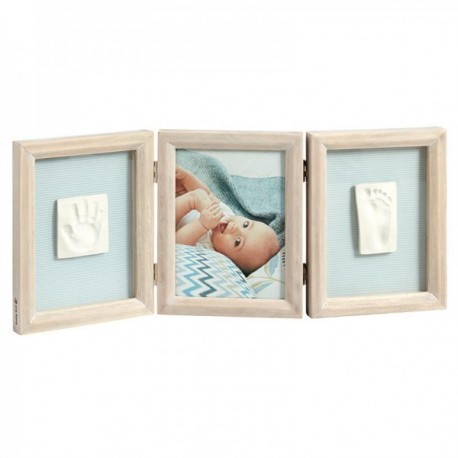 Baby Art Double Print Frame Wood