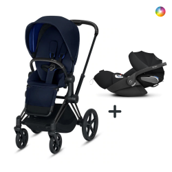 Cybex Priam Matt Black + Cloud Z