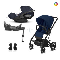 Cybex Balios S Lux Black + Cloud Z + Base Isofix Z One + Adaptadores