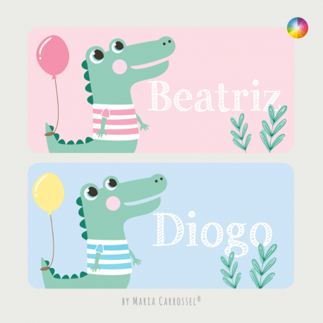 Placa com Nome Crocodilo