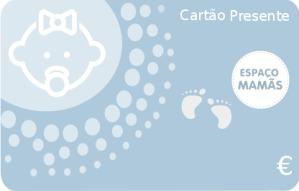 Cartão Presente Nascimento Azul claro