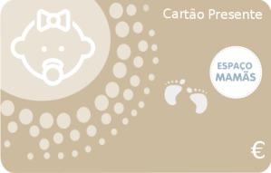 Cartão Presente Nascimento Dourado
